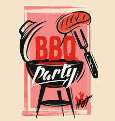 Bbq vecor template vector