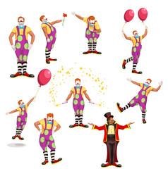 Big clown set vector