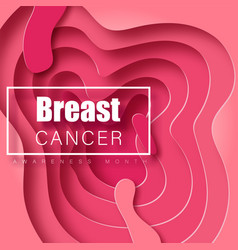 breast cancer awareness banner vector image