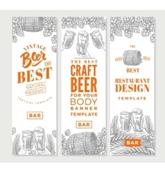 Brewing Vertical Banners vector