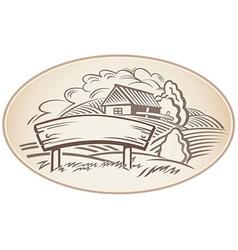 Cartoon Farm design background vector image