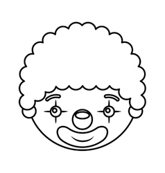 Circus clown character icon vector