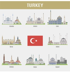 Cities of Turkey vector