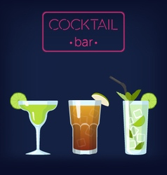 Cocktail bar set vector image
