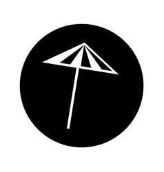 Cocktail umbrella isolated icon vector