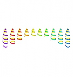 Colored streamers vector