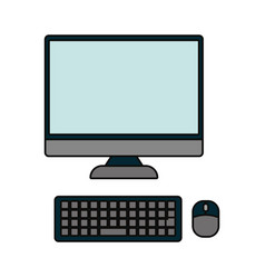 computer device icon image vector image