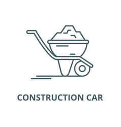 construction car line icon construction vector image