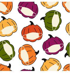 corona pumpkin seamless pattern pumpkins vector image