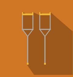 Crutches icon logo flat of crutches icon isolated vector