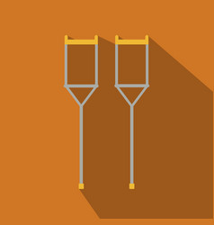 Crutches icon logo flat of icon isolated vector