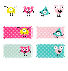 cute monsters creations vector image