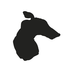 dog portrait silhouette vector image