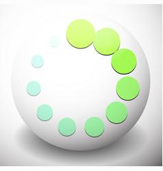 Dotted preloader buffer shape on sphere editable vector