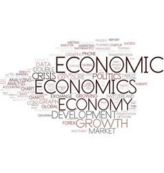 Economics word cloud concept vector