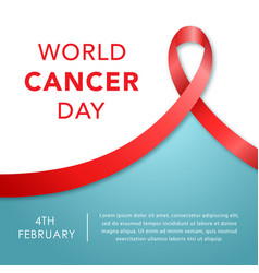 february 4 world cancer day banner awareness vector image