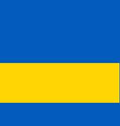 flag of ukraine flag with official colors vector image