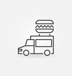 food truck outline icon - truck with vector image