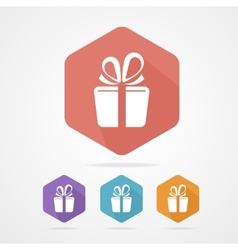 Gift box sign icon Present vector image
