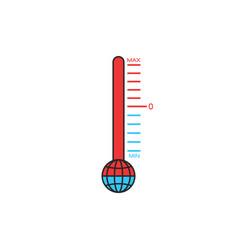 Global warming problem change climate concept vector