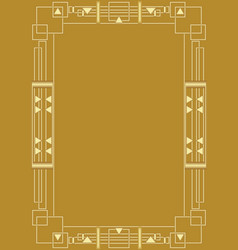 Golden background with golden embossed art deco vector