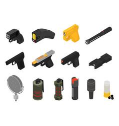 Gun military nonlethal weapon grenade-gun vector