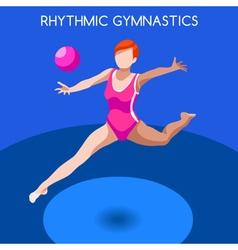Gymnastics Rhythmic Ball 2016 Summer Games 3D vector image