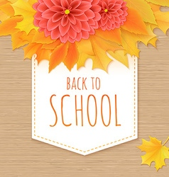 Hand drawn back to school lettering with paper vector