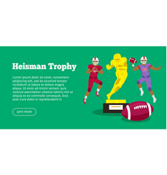 heisman trophy and american football players vector image