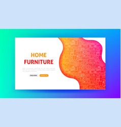 home furniture landing page vector image