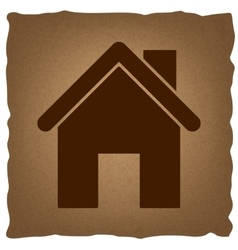 Home silhouette Vintage effect vector image