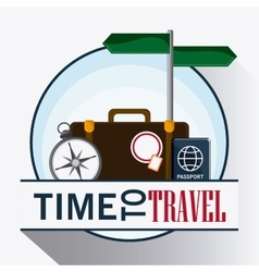 icon set travel vacations trip vector image