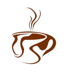 isolated coffee mug logo vector image