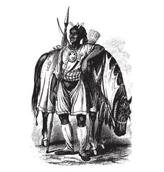 King of ashantee vintage vector