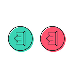 Logout arrow line icon sign out vector