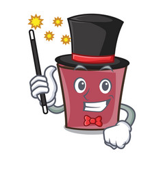 Magician hot chocolate mascot cartoon vector