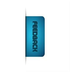 Modern of feedback button vector image