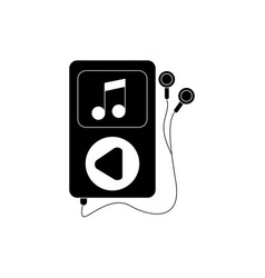mp3 earphones note device melody sound music vector image