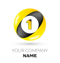 number one logo symbol in colorful circle vector image