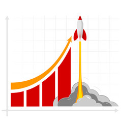 Office infographics showing growth rates sales vector