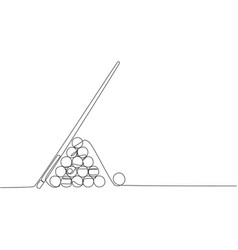 one continuous line drawing triangle pyramid vector image