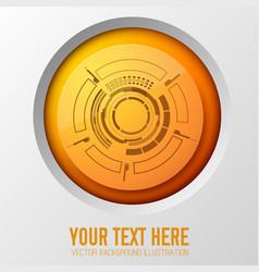 orange circle futuristic background vector image