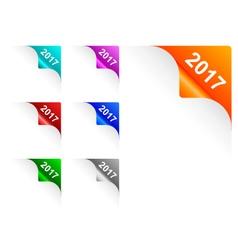 Paper corners 2017 vector image