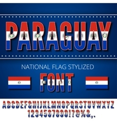 Paraguay flag font vector