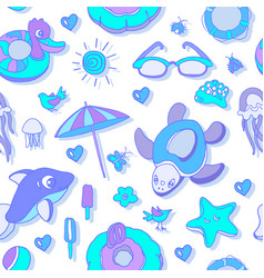 pattern swim kid vector image