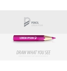 Pencil premium ad product template vector