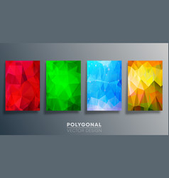 polygonal colorful design for flyer poster vector image