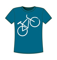 Print of bicycle T-shirts template vector
