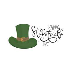 saint patricks hat symbol celebration design for vector image