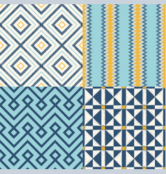 seamless geometric textile background vector image